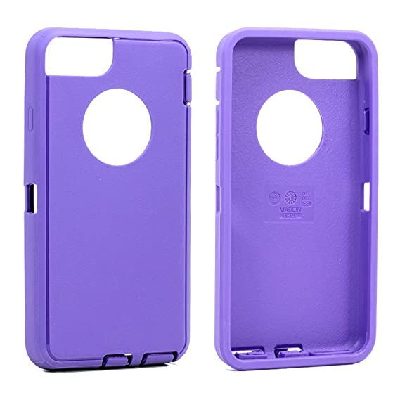 outlet store 53439 46dca Replacement TPE Silicone Skin for Otterbox Defender Series Case Cover For  Apple iPhone 6/iPhone 6s 4.7 inch (Purple Skin)