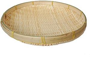 TimesFriend 100% Natural Handmade Woven Bamboo Basket Tray U Shape Holder Bulk Food Flat Shallow Basket Size 5inch 6inch 10inch 15inch Bulk for Customizing (13cm/5