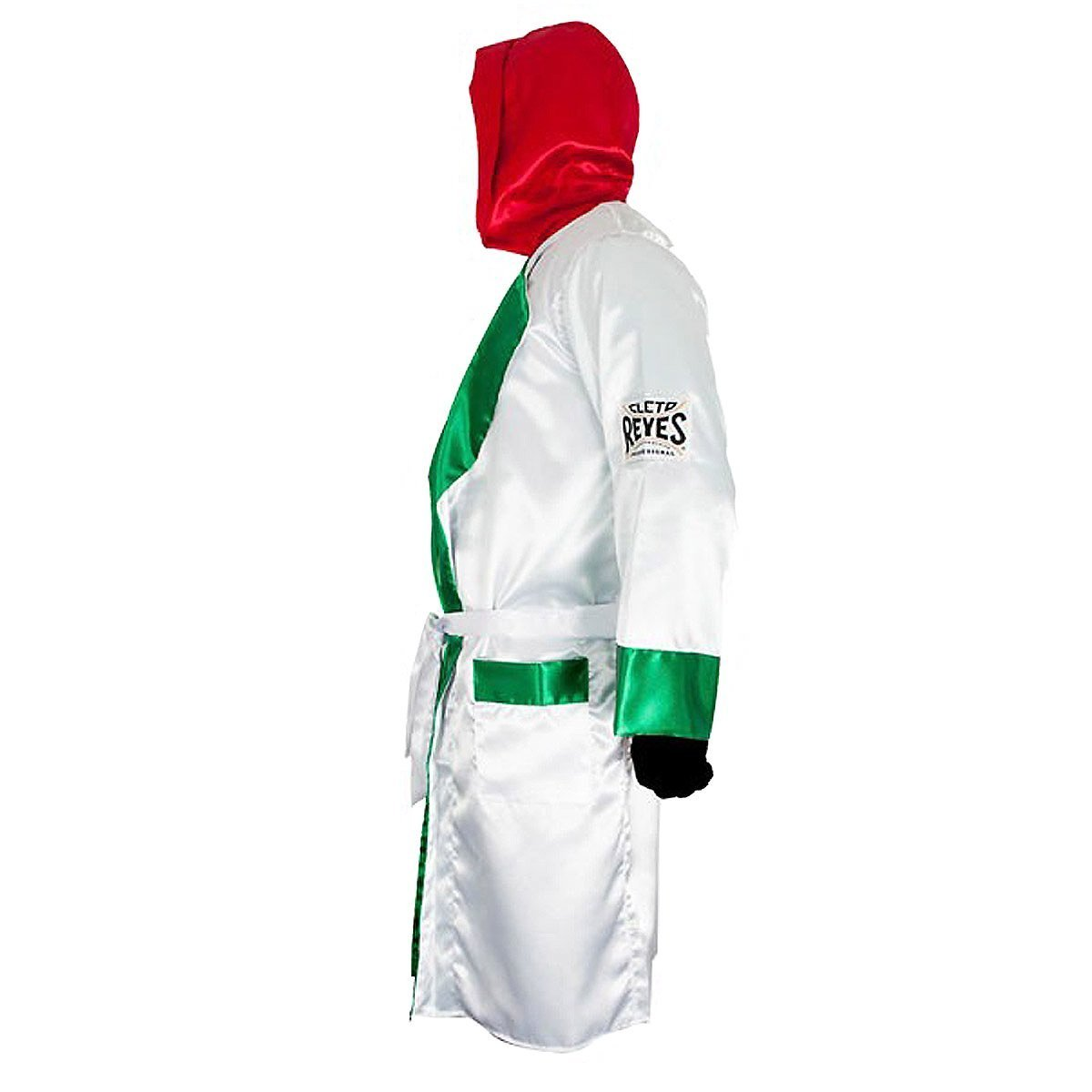 fc001ef38e Cleto Reyes Satin Boxing Robe with Hood - Black  Gold Top Christmas ...