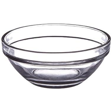 Lauryn Janae 3.5  Prep Glass Bowl, Inch, Clear (Set of 6)