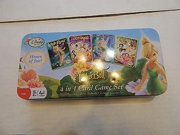 Disney Campanilla Juego de Cartas 4 en 1 Caja de Cartas, Juego de ...