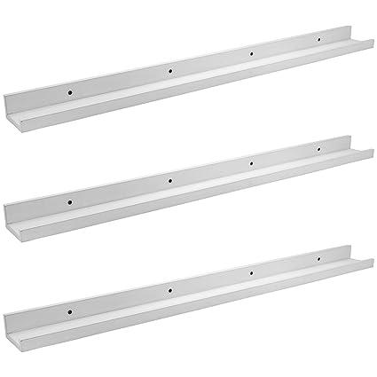 Estantes de madera Estantes flotantes para cadres de foto/plantas - 91.5cm - Blanco - 3 unidades