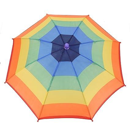 Sombrero plegable al aire libre del paraguas de sol de 3 colores, sombreros principales de
