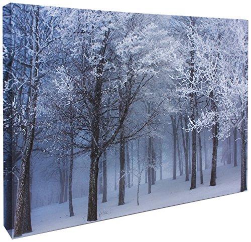 JP Londres cnv2042Galería Wrap Heavyweight Treetops Cubierta de nieve en Frozen Bosque lona Arte Pared Decoración,...