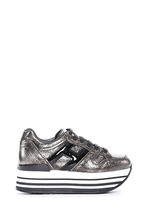 hogan scarpe donna h222 maxi argento autunno inverno art