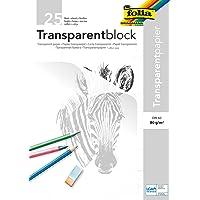 Rayher Hobby 8147900 transparant papier, A3, blok 25 vellen, 80 g/m2