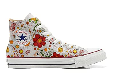 Converse All Star Hi Customized personalisierte Schuhe (Handwerk Schuhe) Flowery Paisley