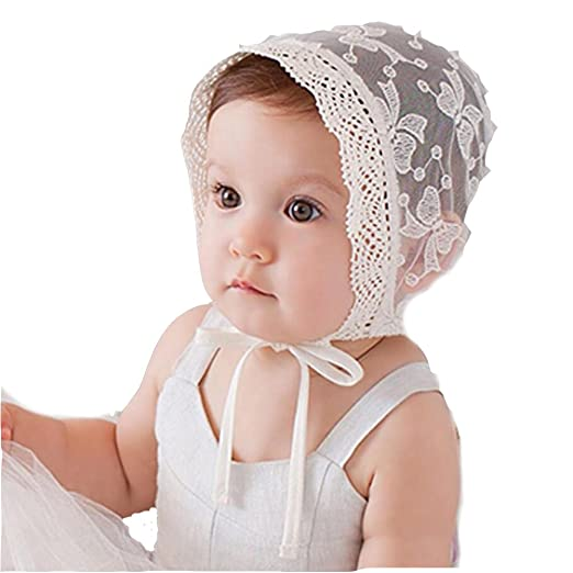 f173cf4a Image Unavailable. Image not available for. Color: Princess Lace Baby Bonnet  Enfant Baby Girl Summer Hat ...