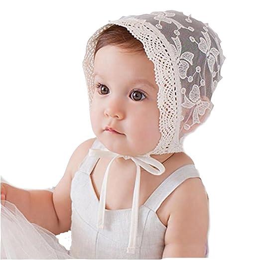 4e69c73be4d Amazon.com  Princess Lace Baby Bonnet Enfant Baby Girl Summer Hat ...