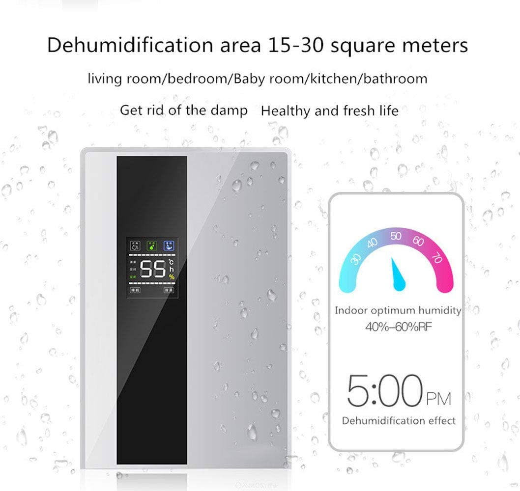 Daetng Dehumidifier With Remote Control Digital Humidity Meter Continuous Drainage Sleep Mode Timer Prevent Mould Mould For Home Office Cellar Amazon De Home Kitchen