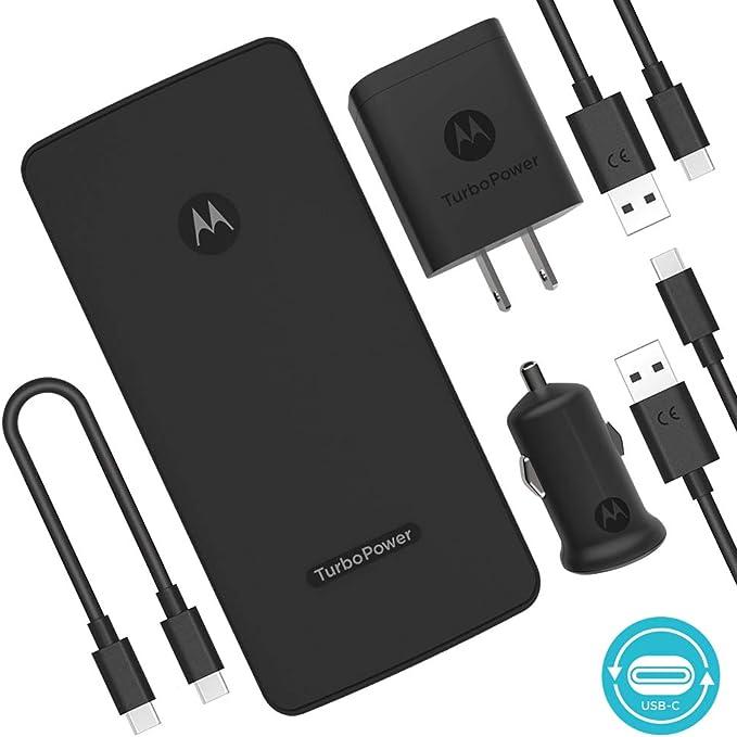 Motorola Essentials USB-C TurboPower paquete de carga - TurboPower Pack 10000 cargador portátil + TurboPower 18