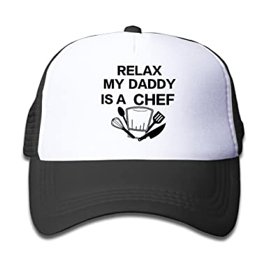 relax my daddy is chef boys girls hats mesh cap adjustable baseball caps kids cool le works vent