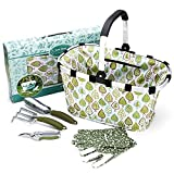 Worth Garden Tool Set Includes Garden Tote - Garden Gloves and Hand Tools That Have a Bag - Trowel - Lopper - Pruner - Scissors - Folding Saw - Pruning Shears – Cultivator and Garden Gloves
