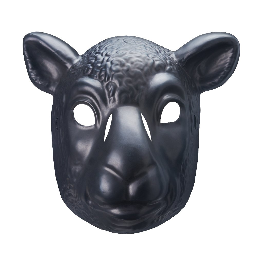 Wyatt Family Black Sheep Braun Stowman Plastic Halloween Party WWE Mask by WWE Authentic