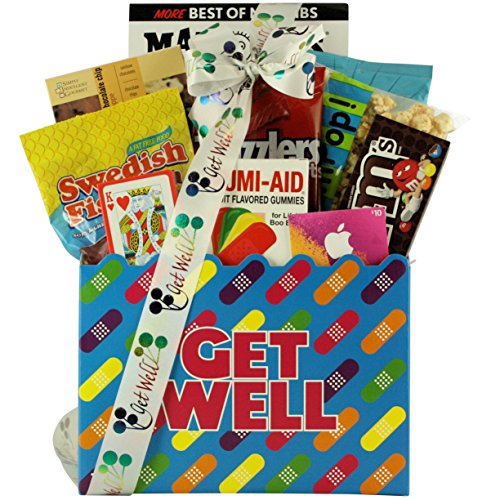 GreatArrivals Teen Get Well Gift Basket for Boys or Girls, Humor and Tunes, 4 Pound (Teen Tunes)