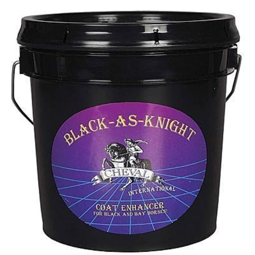 BLACK AS KNIGHT Horse Coat Enriching Supplement for Blacks & Bays 23 LBS