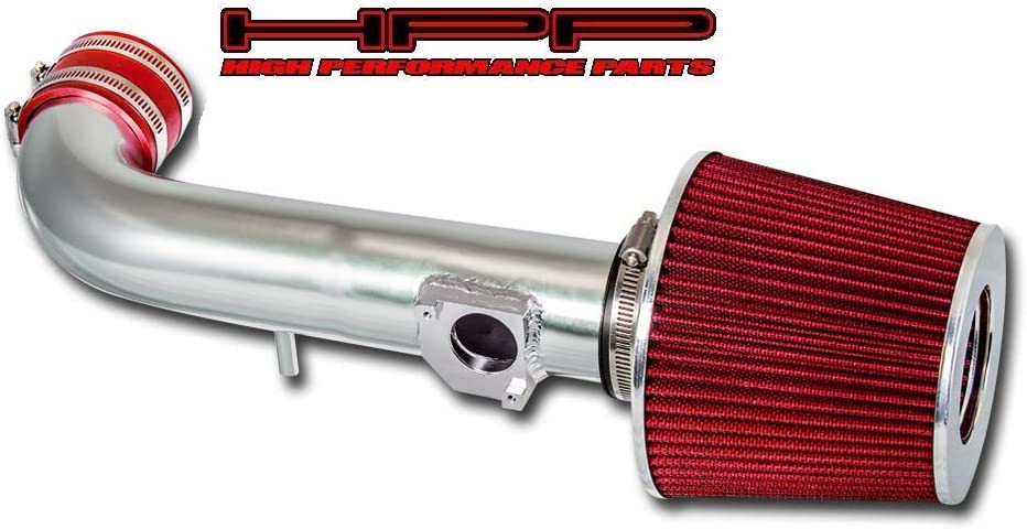 with Filter High Performance Parts Short Ram Air Intake Kit /& Red Filter Combo Compatible for Toyota 99-02 Corolla