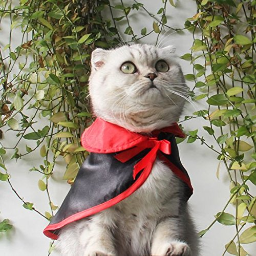 PET Haloween Costumes, Witch Wizard Vampire Cloak for Dog CAT, Cute Cosplay for Puppy Kitten