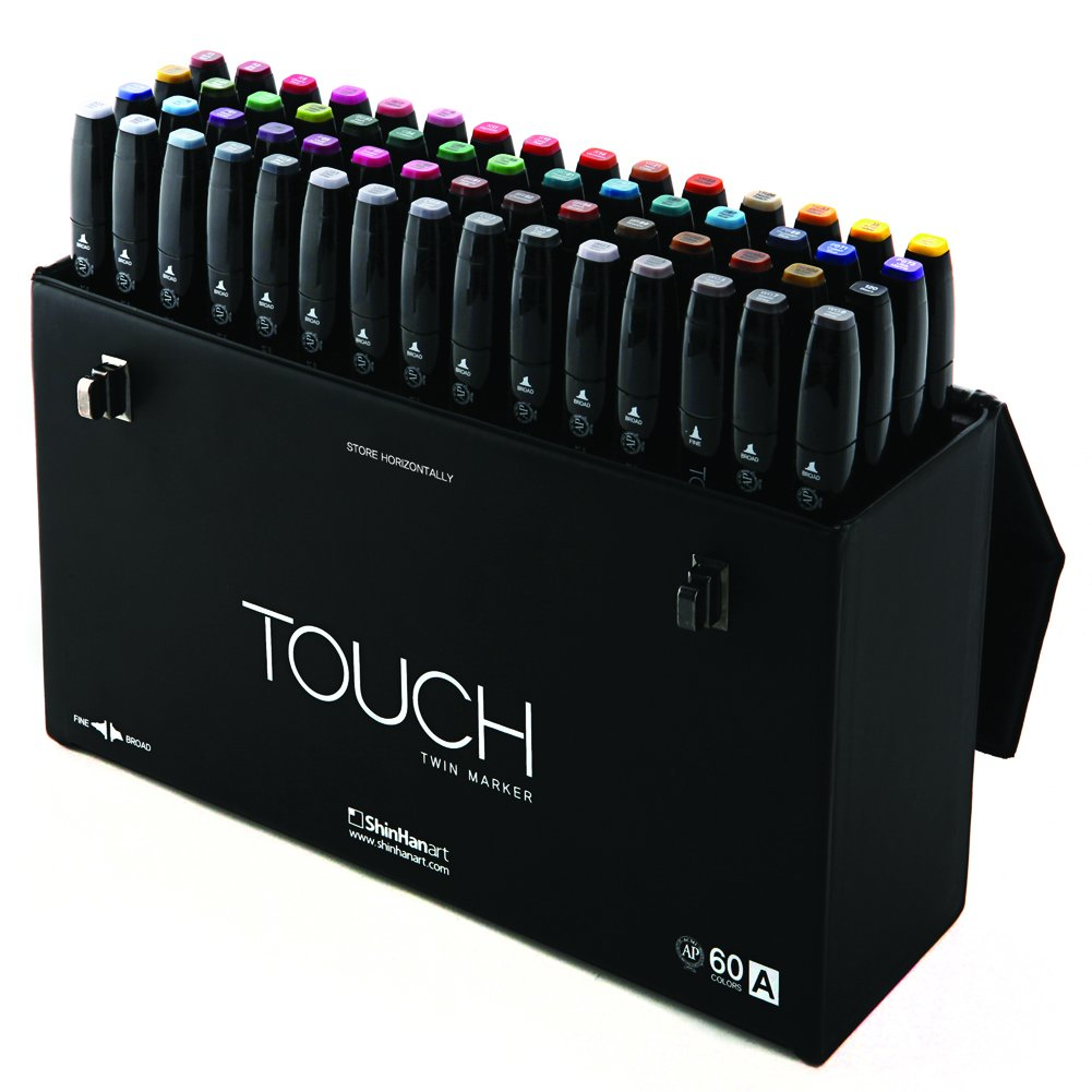 ShinHan TOUCH TWIN Marker 60 Color Set A