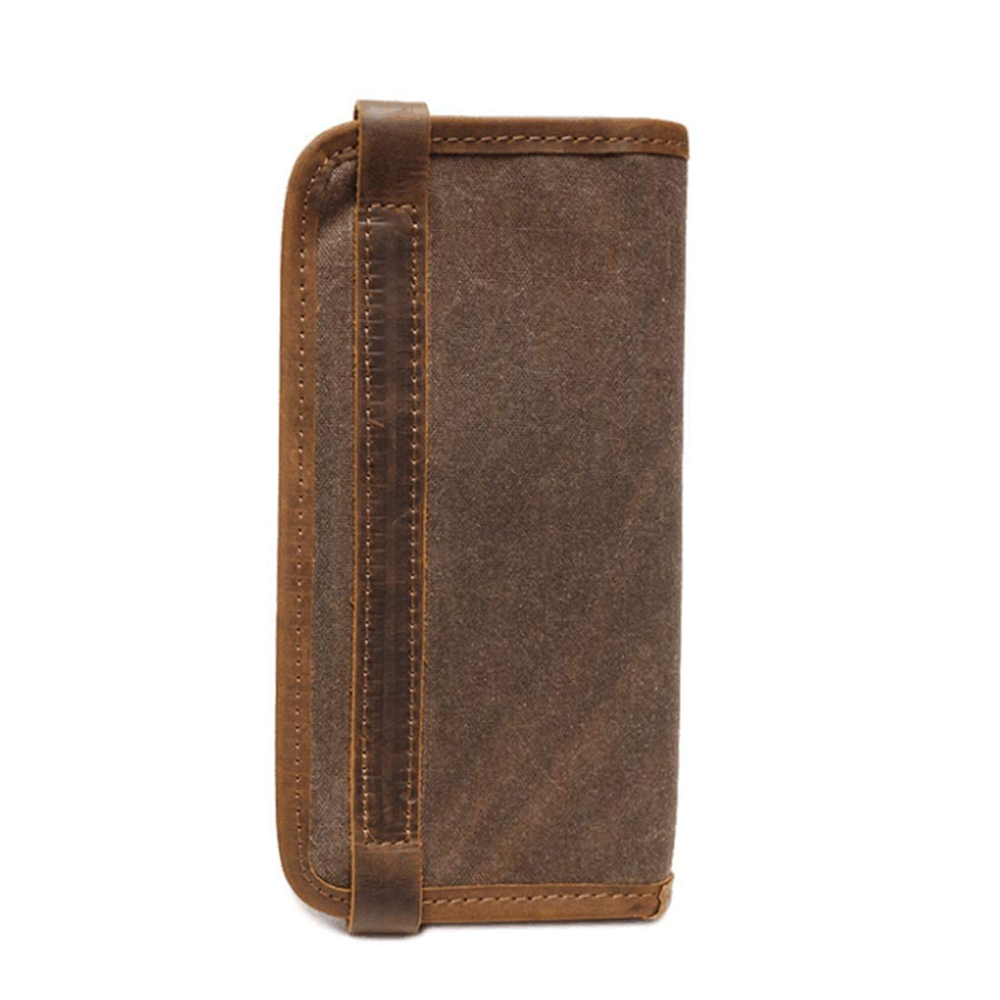 Color : Coral Blue Bifold Hybrid RFID Block KRPENRIO Flipout Wallet in PU Leather for Men