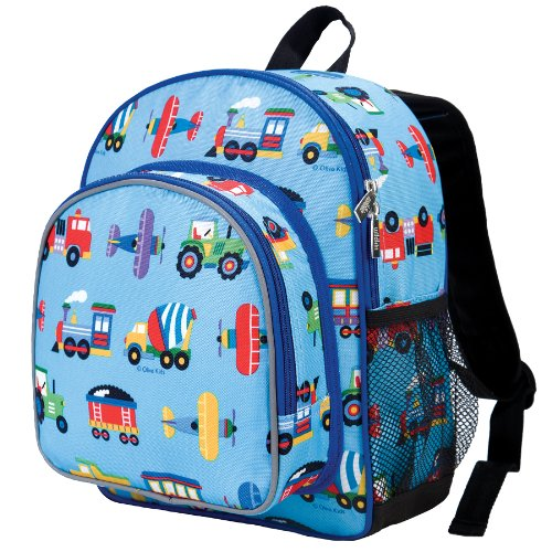 Olive Kids Trains, Planes and Trucks Pack 'n Snack Backpack