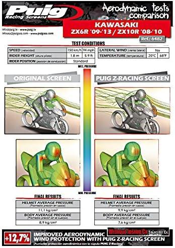 Racingscheibe f/ür Kawasaki ZX-10R 08-10 schwarz Puig 6482n
