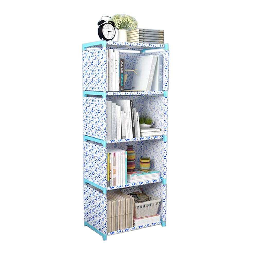 Jcnfa-Shelves Book Shelf Easy Assembly Living Room Bedroom Art Books Organizer, 4 Grid with Wai Cloth (Color : A4, Size : 16.1412.2049.21in) by Jcnfa-Shelves