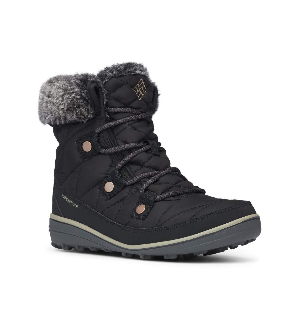Columbia Women's Heavenly Shorty Omni-Heat Snow Boot, Black, Kettle, 12 Regular US by Columbia