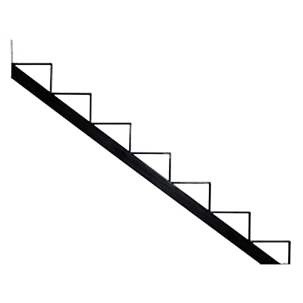 Pylex 13907 7 Steps Steel Stair Stringers Black