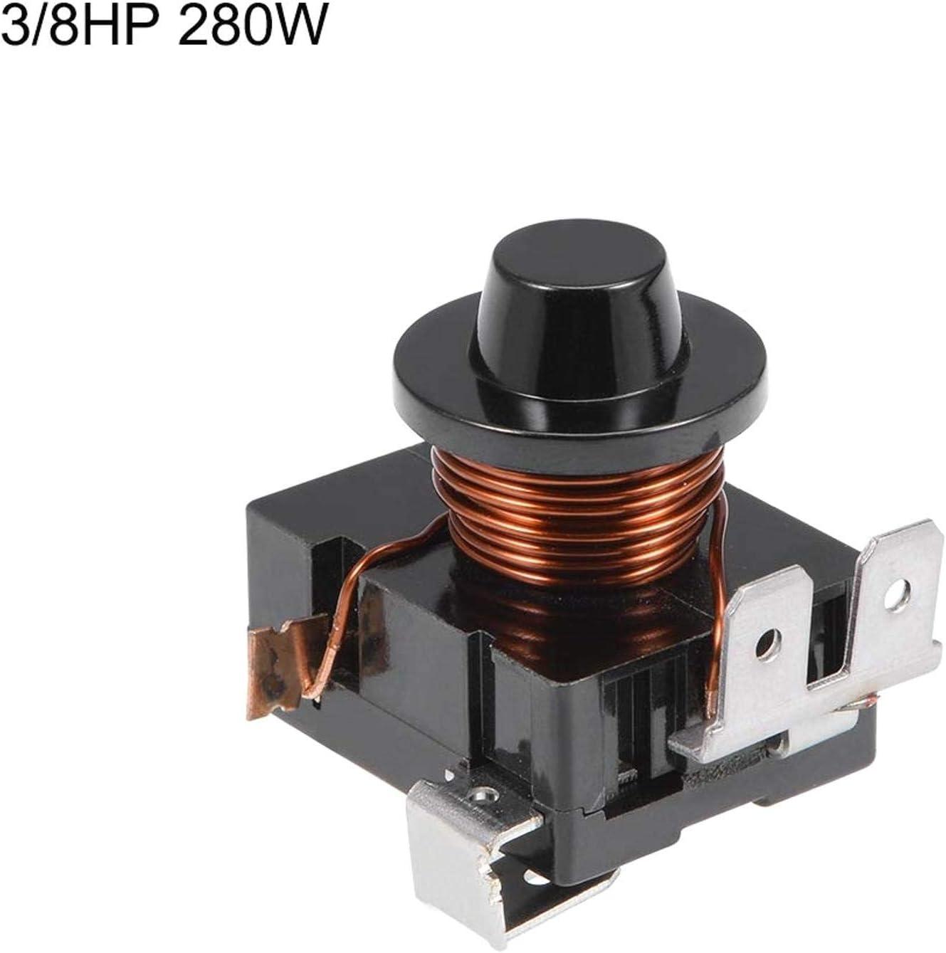TINGB Rel/è avviamento 2 compressori Frigorifero 2 Pezzi Ricambio 1 2HP-220V 375W