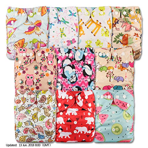 Without Insert Patterns 310 Set of 3 Reusable Pocket Cloth Nappy Littles /& Bloomz Fastener: Popper