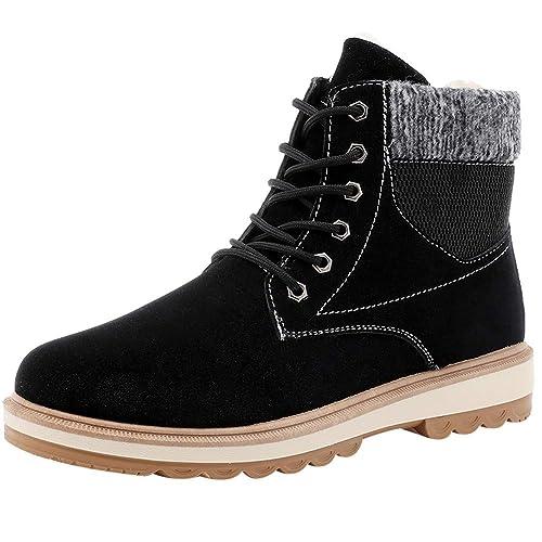 Ansenesna Herren Schuhe Braun Winter Gefüttert Warm Elegant