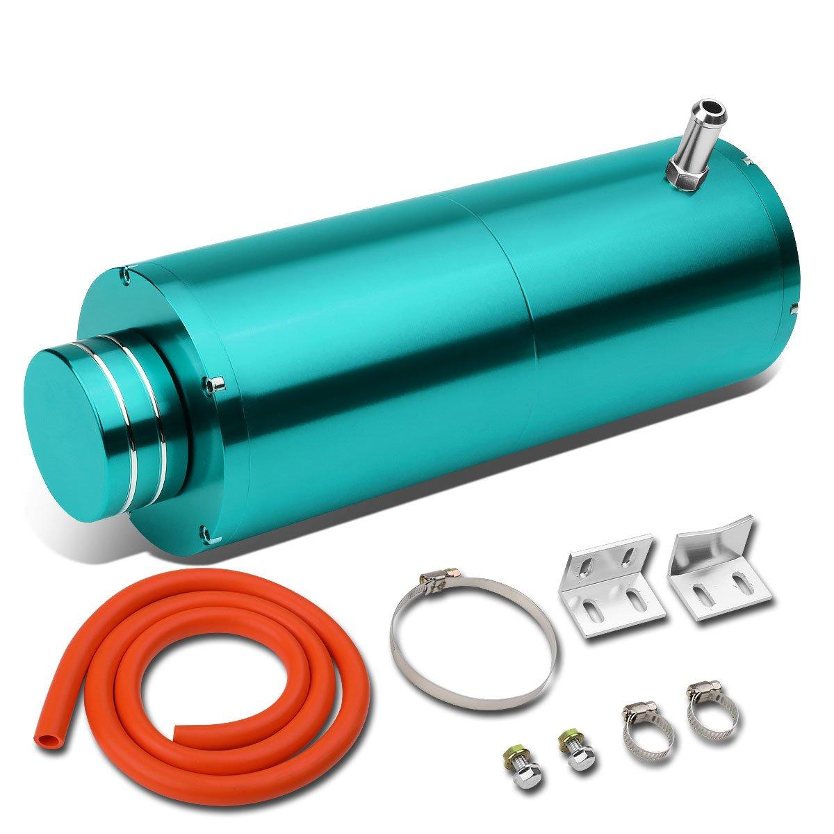 Universal Anodized Aluminum Coolant Recovery Bottle Tank Reservoir W/Removable Cap (Blue) Auto Dynasty