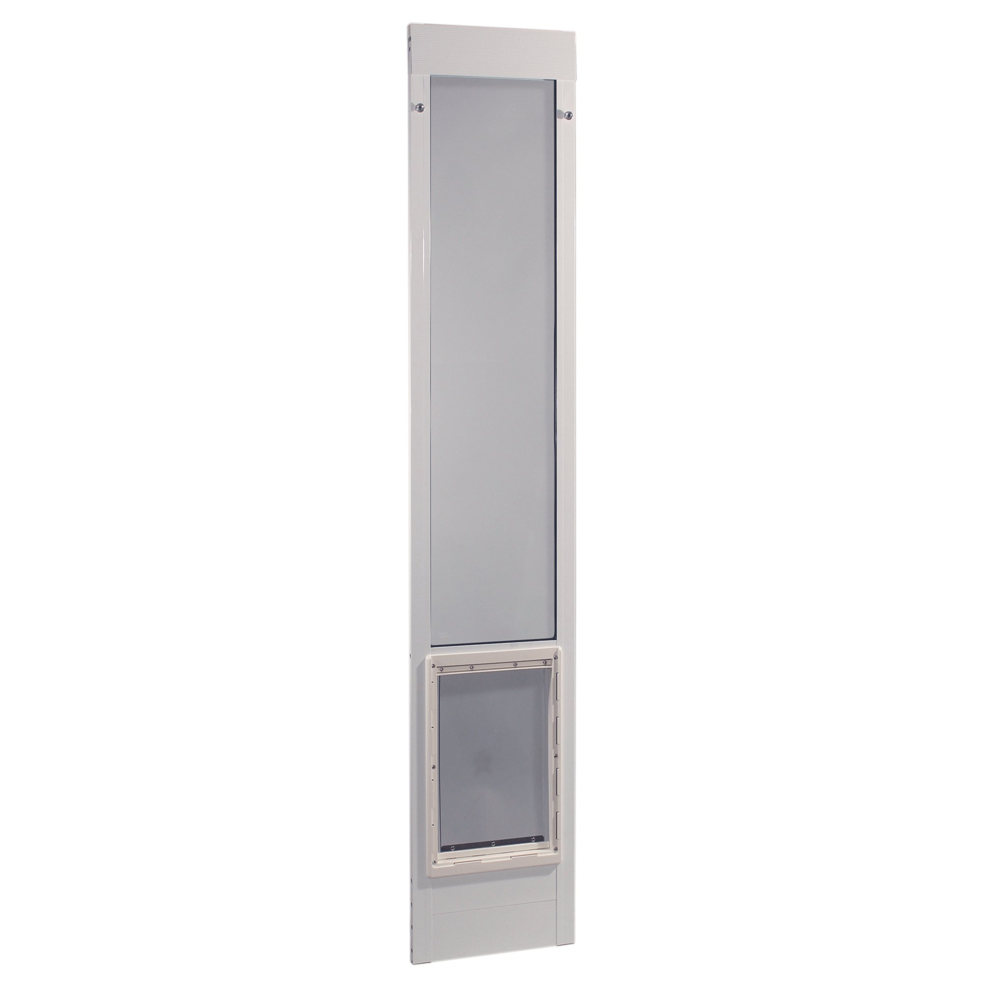 Ideal Pet Products 75PATXLW 75'' Fast Fit Aluminum Pet Patio Door, X-Large/10.5'' x 15'', White by Ideal Pet Products
