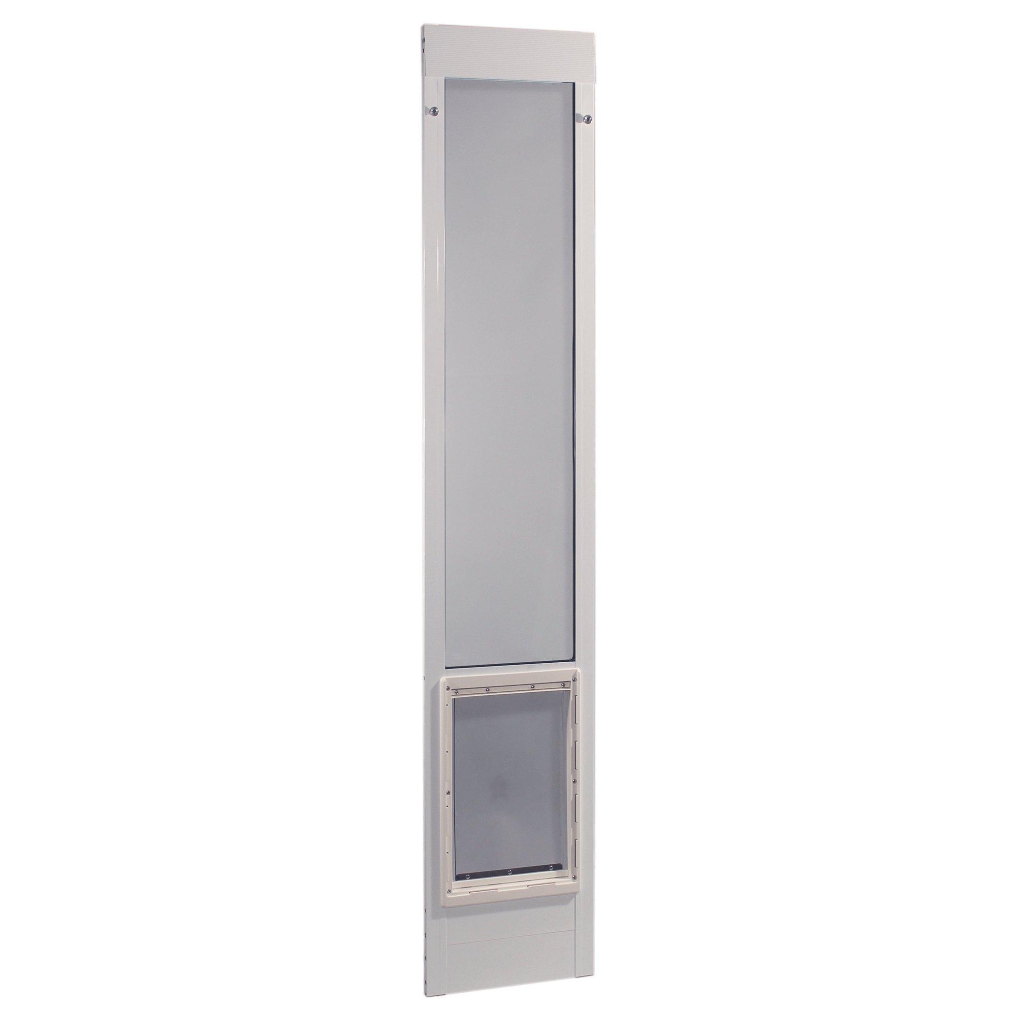Ideal Pet Products 75PATXLW 75'' Fast Fit Aluminum Pet Patio Door, X-Large/10.5'' x 15'', White