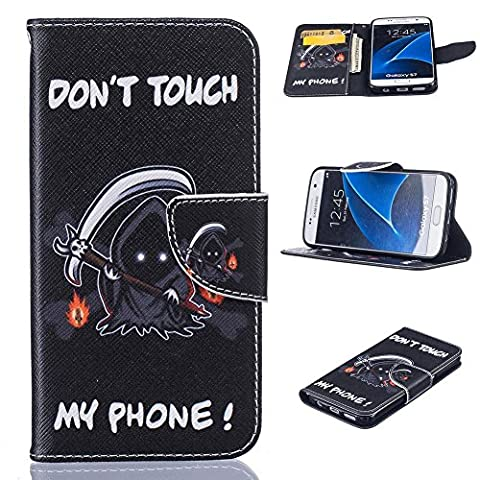 Galaxy S7 Case, Firefish Slim PU Leather Wallet [Card Slots] Kickstand Magnetic Clip Non-Slip Bumper Shell Perfect Fit for Samsung Galaxy S7 - 9 Junior Liquid