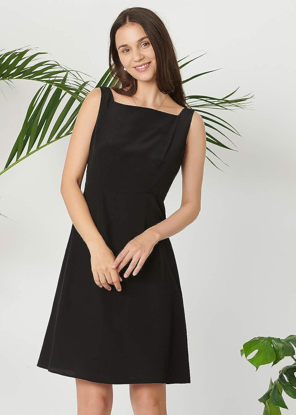 LilySilk Seide Kleider Schlicht Schwarze Seidenkleider Cocktailkleider Partykleider Verpackung MEHRWEG