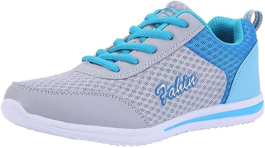Solike Baskets Femme Filles Chaussures de Sport Mesh Lacets