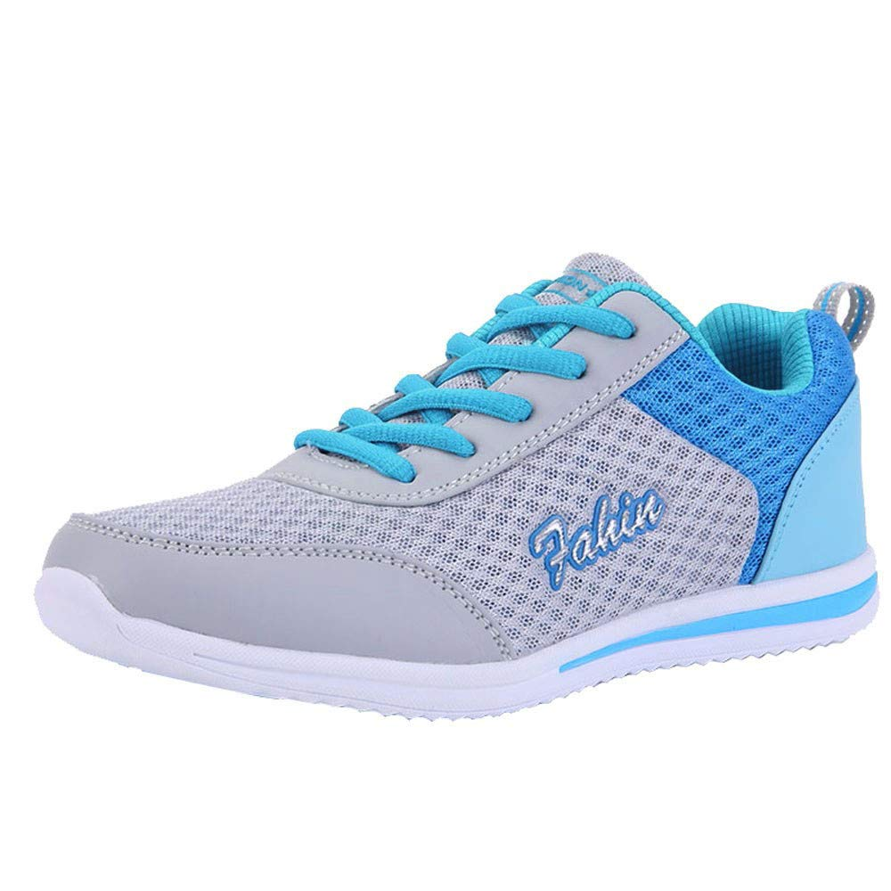 HULKAY New Upgrade Fashionable Mesh Breathable Sneakers for Women Lace-Up Outdoor Lightweight Non-slip Casual Shoes