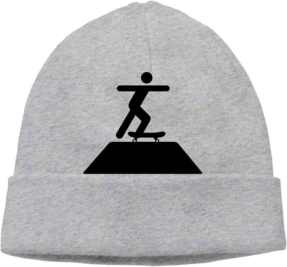 Mens and Womens Skullies Beanies Skateboard Skater Vintage Skull Cap Sports /& Outdoors Knit Hat Gray