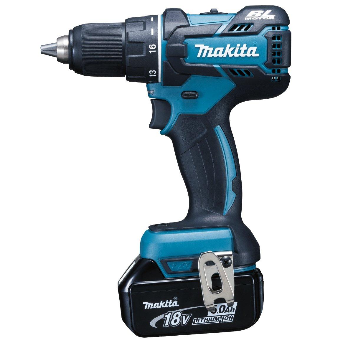 1,3 cm, 3,8 cm, 54 Nm, 36 Nm, 400 RPM, 1550 RPM Azul 1,8 kg Taladro el/éctrico Makita DDF480RMJ drill Sin llave Negro
