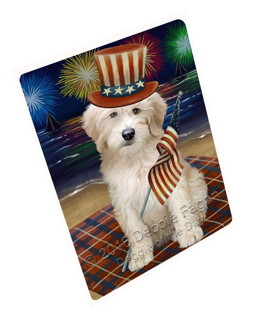 Doggie of the Day 4th of July Independence Day花火Goldendoodle Dog Blanket blnkt88176 37x57 Sherpa DOTD-BLNKT-A88177 B07FR9SR3B  37x57 Sherpa