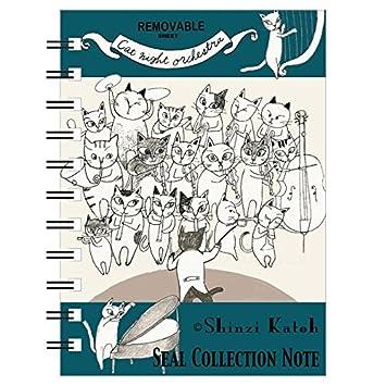 Shinzi Katoh Linda libreta de Anillas para coleccionar Pegatinas con Gatos Tocando Instrumentos Musicales: Amazon.es: Juguetes y juegos