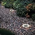 Missbee Solar Ground Lights 8led Solar Underground Light Ground Lamp Outdoor Path Light Spot Lamp Bronze Yard Garden Lawn Landscape Decking Waterproof 4 Pack (Warm White)