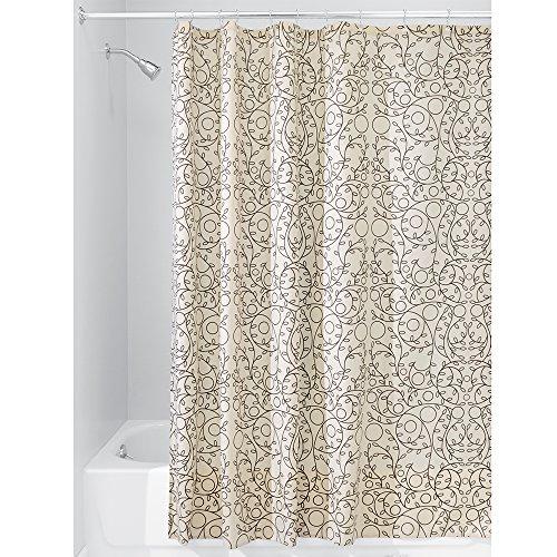 InterDesign Fabric Shower Curtain Vanilla