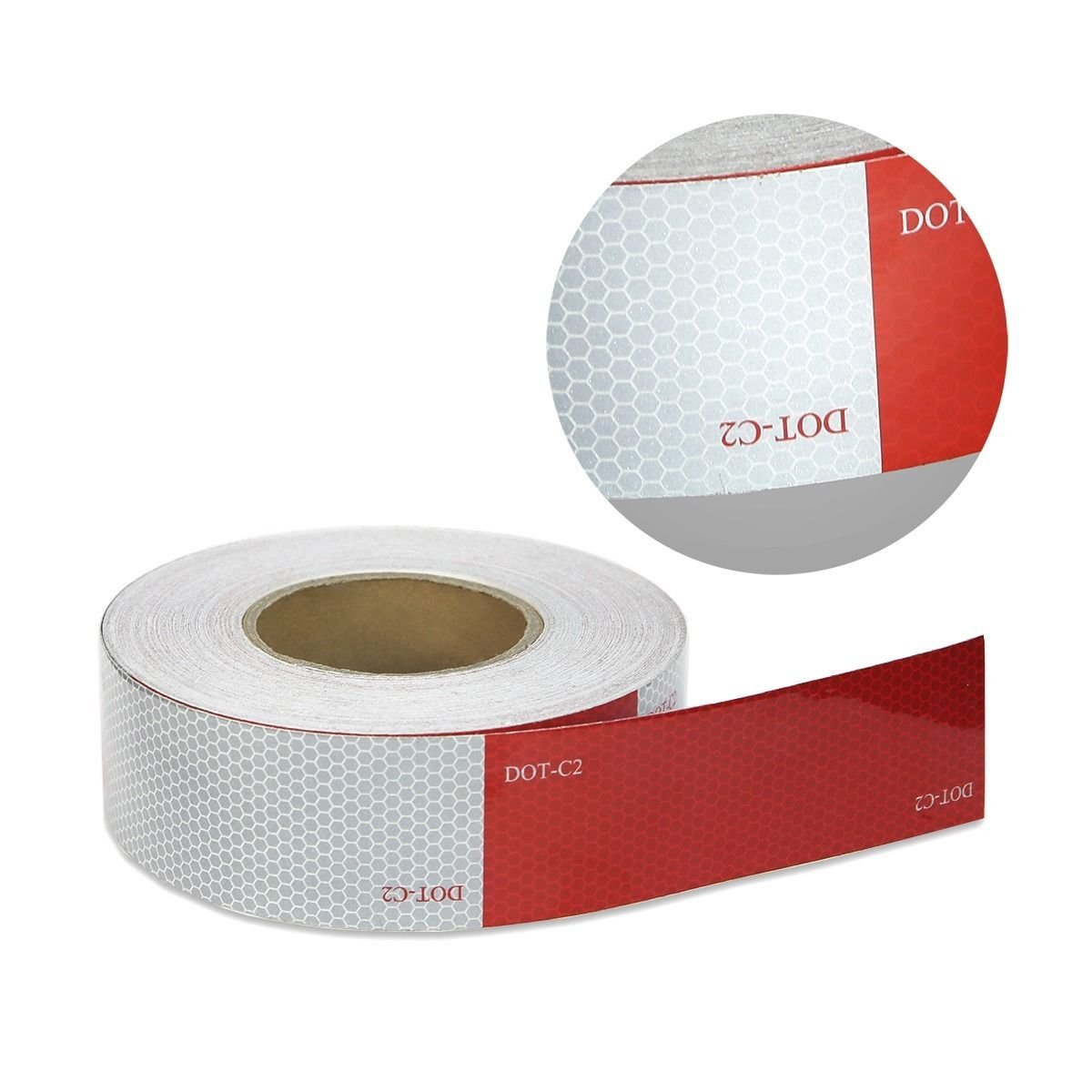 2x150 Dot C2 Reflective Conspicuity Tape Safety Trailer 6red 6 White
