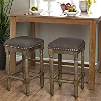 Renate Grey/Brown Counter Stools (Set of 2)