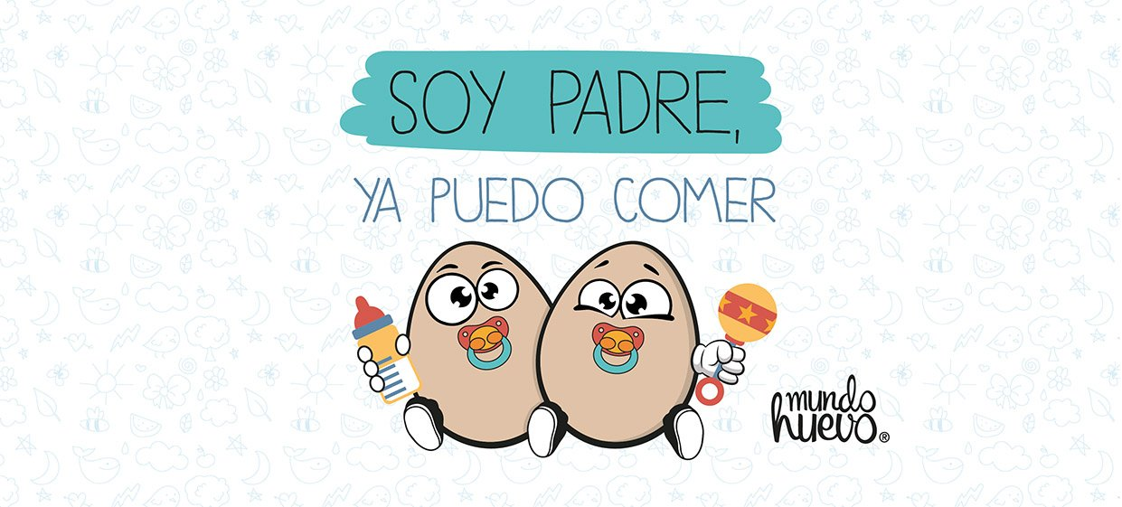 mundohuevo Taza Soy Padre, ya Puedo Comer Huevos: Amazon.es: Hogar