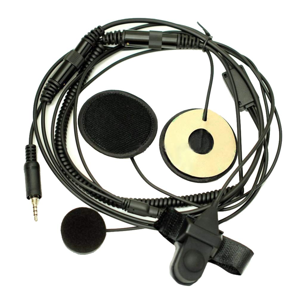 1 Pin 3.5mm Finger PTT Motorcycle Helmet Headset Microphone for YAESU VX-6R//7R