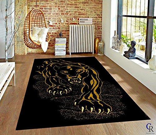 Black Panther Jaguar Area Rug African Animal Carpet (5' 3